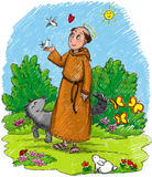 illustration-kids-saint-francis-wood-wild-animals-wolf-rabbit-birds-cute-insects-29791631[1]