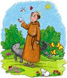 illustration-kids-saint-francis-wood-wild-animals-wolf-rabbit-birds-cute-insects-29791631[1]