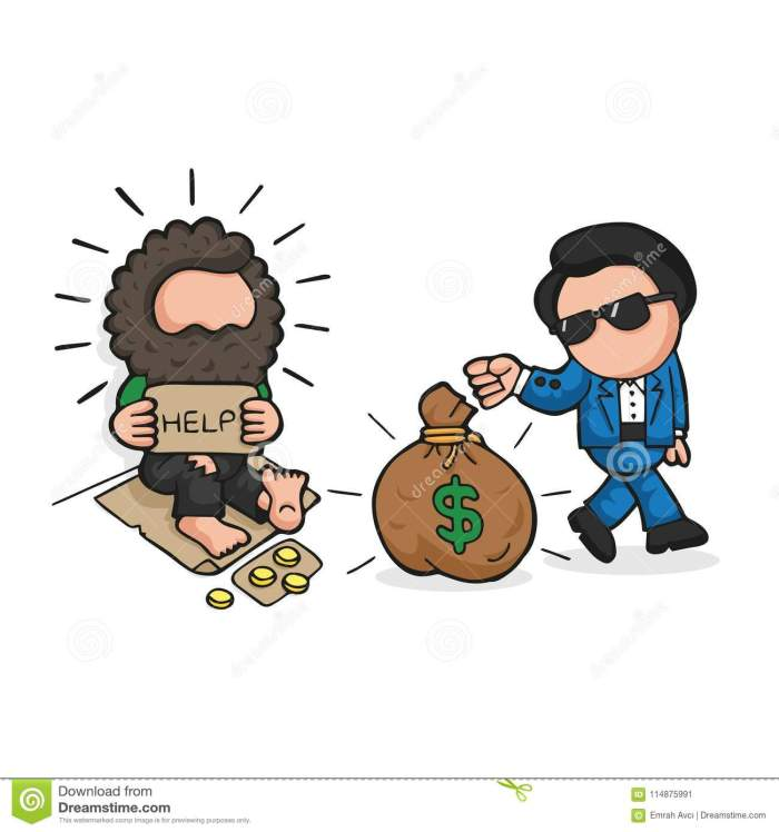 vector-hand-drawn-cartoon-rich-man-giving-money-bag-to-homele-vector-hand-drawn-cartoon-illustration-rich-man-giving-money-114875991[1]