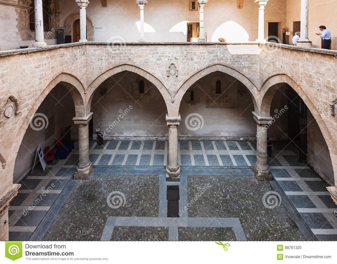 patio-palazzo-chiaramonte-steri-palermo-italy-june-building-was-begun-early-th-century-was-88761320